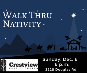 Walk-Thru Live Nativity