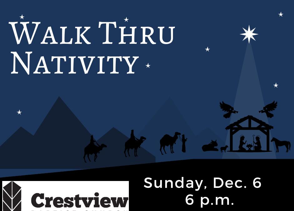 Walk-Thru Live Nativity